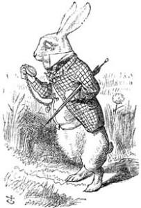 Das weiße Kaninchen aus Alice in Wunderland