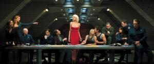 Das letzte Abendmahl in Battlestar Galactica nachgestellt