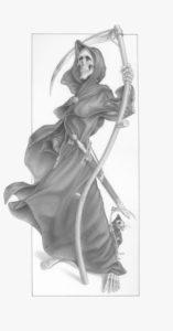 Zeichnung Gevatter Tods von Paul Kidby