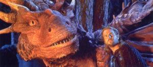Draco und Bowen aus dem Fantasy-Film Dragonheart