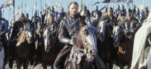 Aragorn reitet in die Schlach